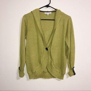 CAbi Sweaters - CAbi | Avocado Green Cardigan with Hood